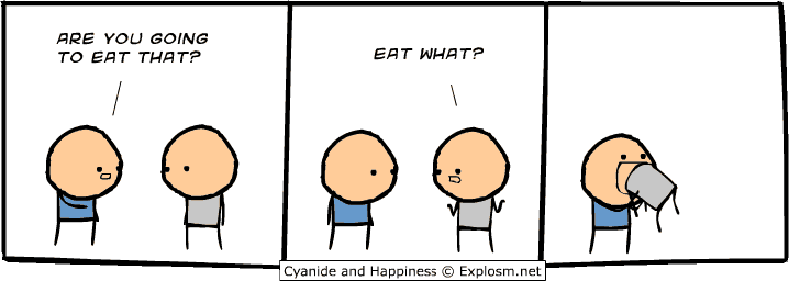 Fit Farm! Not Fat Camp! Are you going to eat that? (from Explosm.net)