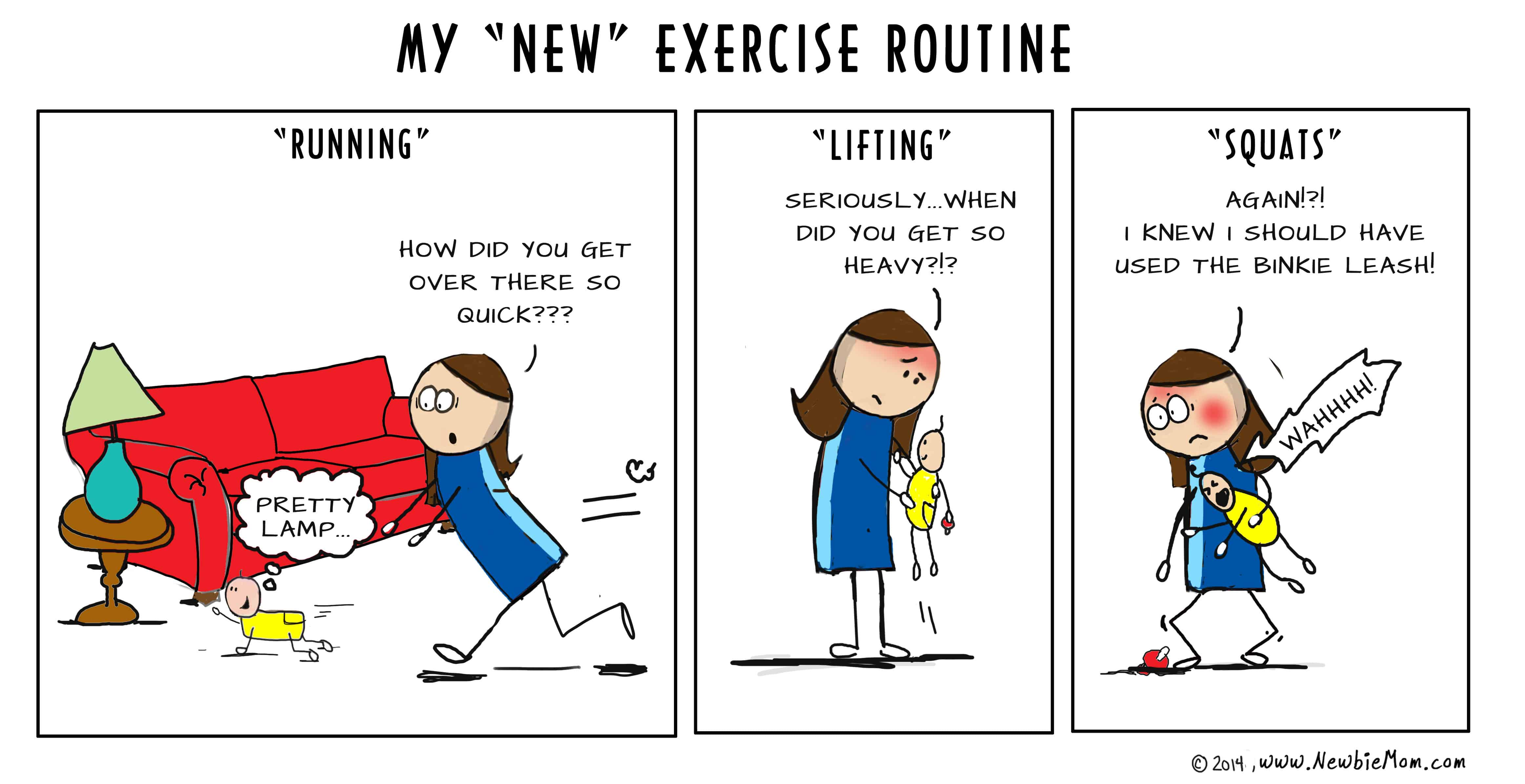 The mommy exercise routine at Fit Farm!